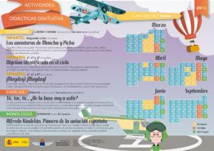 Calendario de actividades didácticas del Museo de Aeronáutica y Astronáutica