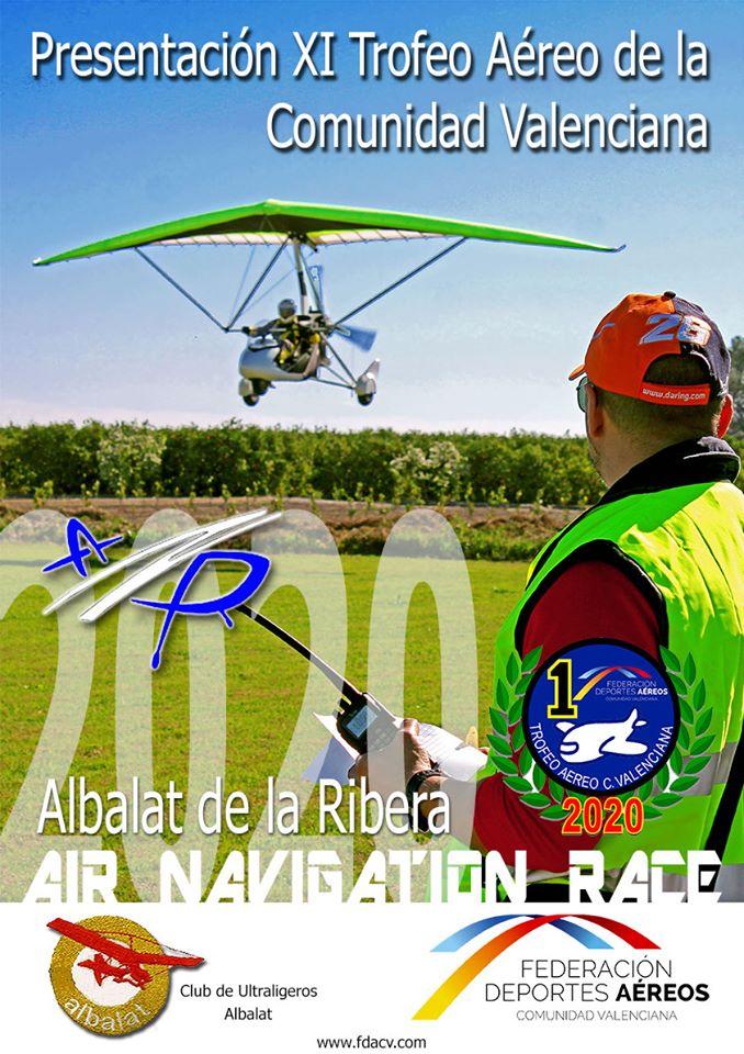 El próximo sábado 29 de febrero, a partir de las 10 h, tendrá lugar en el Aeródromo de Albalat de la Ribera (Valencia), la Jornada de Presentación del XI TrofeoAéreo de la Comunidad Valenciana ANR 2020.