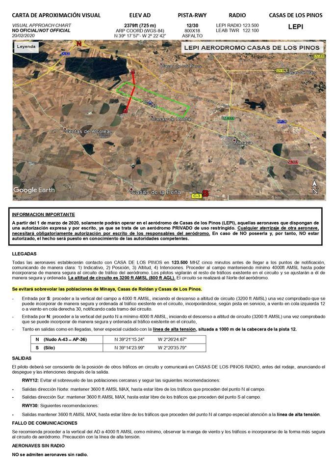 Aeródromo LEPI Minaya Casa de los Pinos