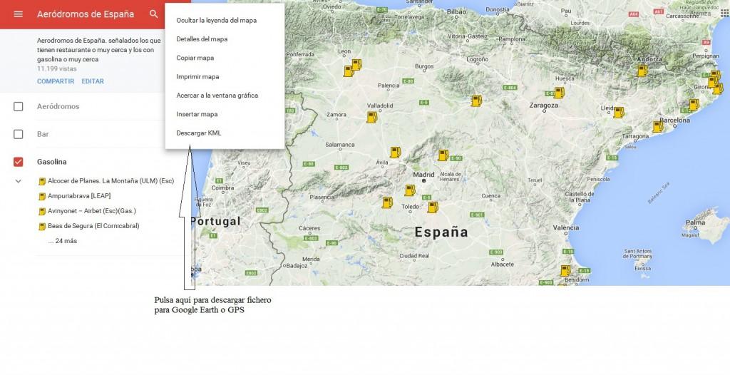 Mapa aeródromos de España ampliación - aterriza.org