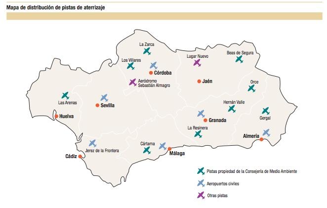Pistas de aterrizaje de la Junta de Andalucía